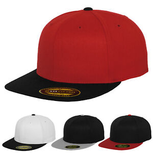 Flexfit by Yupoong Unisex Premium 210 Fitted 2 Tone Flat Peak Baseball Cap Hat