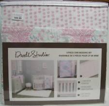 Dwell Studio Sweet Fawn Deer/Forest Baby Girls 3 Piece Crib Bedding Set NEW