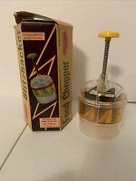 Vintage 1950's Manual Blitzhacker 4-way Rotating Lightning Food Chopper