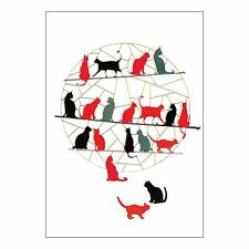 Forever Laser-Cut Card - Ginger, Black and Grey Cats