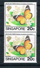 Singapore 1993 Butterflies Booklet Pair SG 728a MNH
