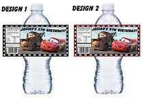 20 DISNEY PIXAR CARS PERSONALIZED BIRTHDAY PARTY FAVORS WATER BOTTLE LABELS