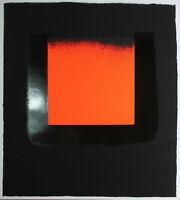 RUPPRECHT GEIGER - Orange auf Schwarz. Unsignierter Siebdruck 65,5 x 59,5