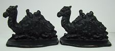 Antique 1920s Cast Iron Egyptian Camel Pair Bookends Connecticut Foundry c1928