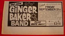 """Ginger Baker Band London Gig Vintage ORIG 1979 Press/Magazine ADVERT 5.5""""x 3"""""""