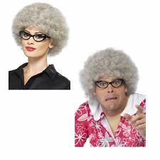 Adult Unisex Old Granny Perm Wig Comedy Stag Do Hen Night Fancy Dress Accessory