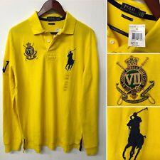 Polo Ralph Lauren Rugby Long Sleeve Yellow Shirt L County Riders Jockey Club NWT