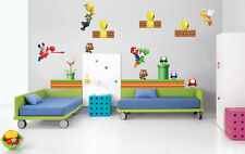 Giant Super Mario Removable Nursery Wall Stickers Kids - New Design