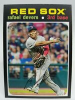 2020 Topps Heritage Rafael Devers #145 SP Action Image Variation Red Sox