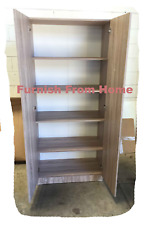 Budget Textured Oak 800mm Wide 4 Shelf Wardrobe or Pantry - BRAND NEW