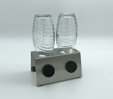 Edelstahl Abtropfhalter für z.B. Sodastream Crystal / Fuse/ Emil uvm 2/3/4 Plätz