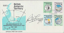 Ranulph FIENNES SIGNED Autograph FDC AFTAL COA First Day Cover Explorer British