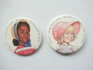 American Girl Addy and Kirsten Collector Large Pin Pinback Button - Retired