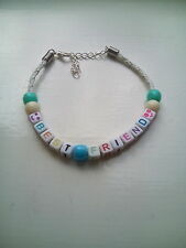 best friend smiley bead bracelet