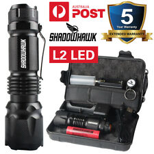 Shadowhawk Super Bright 90000LM LED USB Rechargeable Tactical Flashlight Torch