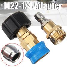 M22 X 1/4 Adapter Pressure Washer Hose Lance Fitting Coupler For Karcher Nilfisk