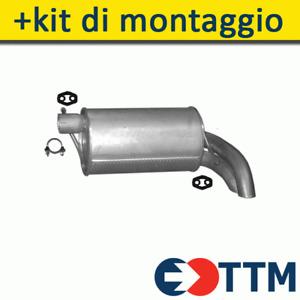 FORD GALAXY 1.9 D 2000-2006 Silenziatore Marmitta Posteriore+