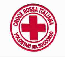 [Patch] CROCE ROSSA ITALIA CRI VOLONTARI cm 7,5 diametro toppa ricamo -815