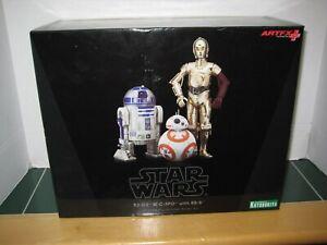 Star Wars R2-D2 and C-3PO with BB-8 Kotobukiya 1/10 Scale Pre-Painted Model Kit