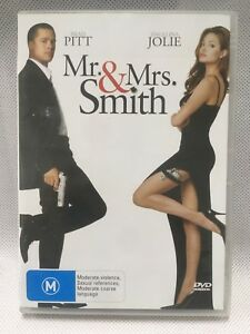 MR & MRS SMITH BRAD PITT ANGELINA JOLIE Action Adventure Movie DVD