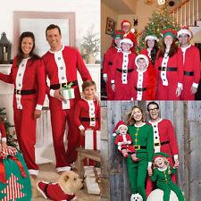 Christmas Family Matching Santa Claus Pajamas PJs Set Xmas Sleepwear Nightwear