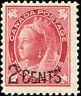 "Canada Scott 87 Queen Victoria ""Maple Leaf"" Provisional Issue  MH OG (18359)"