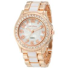 Womens Fashion Watch Rose Gold and White Bracelet Big Face Reloj de Mujer Damas