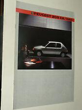 Prospectus PEUGEOT 205 XA / XAD   1985   brochure prospekt  car catalogue