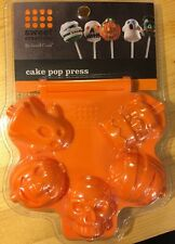 Halloween Cake Pop Maker Press Mold Orange Sweet Creations New FUN!