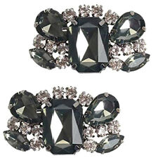 1 pares DIY pedrería zapato clips zapato joyas decoración para novia zapato boda partido