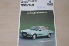 176050) Peugeot 505 - Pressestimmen - Prospekt 198?