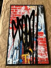 SEEN Graffiti Legend!  original spray paint on canvas. Invader, Banksy, KAWS.