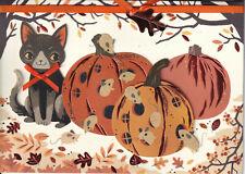 Papyrus Halloween Card Nip Msrp $6.95 Cat/Mice Pumpkins Card (C1)