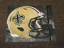 "NEW ORLEANS SAINTS HELMET NFL Fathead Wall Graphics 11"" x 9""  (Poster/Sticker)"