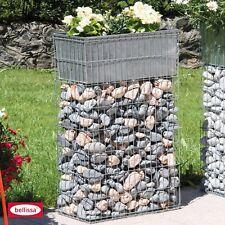 Belissa Pflanzgabione mit Bewässerungskasten - 40 x 20 cm - Höhe: 80 cm