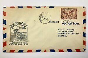 1936 Canadian First Flight Commemorative Covers Rimouski - Sept Iles Env 852B