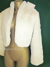 Waist Length Faux Fur None Formal Coats & Jackets for Women