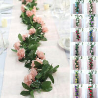 6 feet 3D Chain GARLAND with SILK ROSES Wedding FLOWERS Bouquets Wholesale