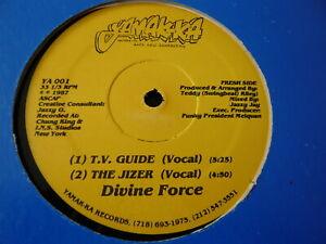 """DIVINE FORCE...T.V GUIDE THE JIZER WE CAME HERE...HIP HOP INDY RAP 12"""" OG PRESS"""