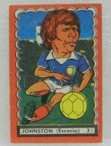 JOHNSTON (SCOTLAND) Nº 33 1977 ORIGINAL FOOTBALL SOCCER CARD
