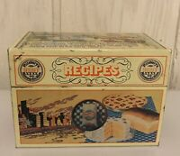 Pillsbury's Best Flour Recipe Box Tin Vintage 1983 Hinged Original Recipe