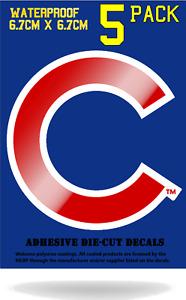"MLB Chicago Cubs Red C Logo Vinyl Decal Sticker 3"" x 4"" Car Window Bumper Laptop"