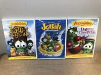 Lot Of 3 VeggieTales DVD - Lord of the Beans - Jonah Movie - Dave & Giant Pickle