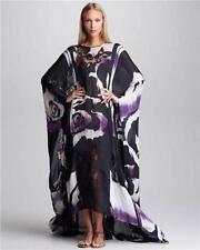 EMILIO PUCCI Print Silk Kaftan Coverup Maxi Dress Gown UK8-16 New