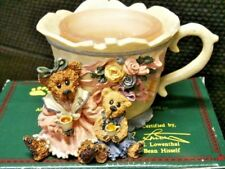 "Boyds Bear ""Mrs. Bruin & Baily Tea Time"" Figurine Candle Holder New In Box"