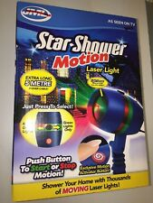 new Star Shower Motion Laser Light Christmas Red Green Moving Stars Projector#UK