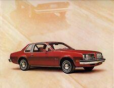 Pontiac sunbird coupe 1976 usa market dépliant vente brochure