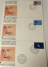 UNITED NATIONS POUR LA FEMME  FIRST DAY COVER GENEVA CACHE-2