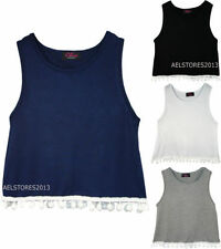 Unbranded Girls' Crew Neck Vest T-Shirts & Tops (2-16 Years)
