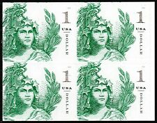 US 5295 Statue of Freedom One Dollar Emerald Green $1 block (4 stamps) MNH 2018